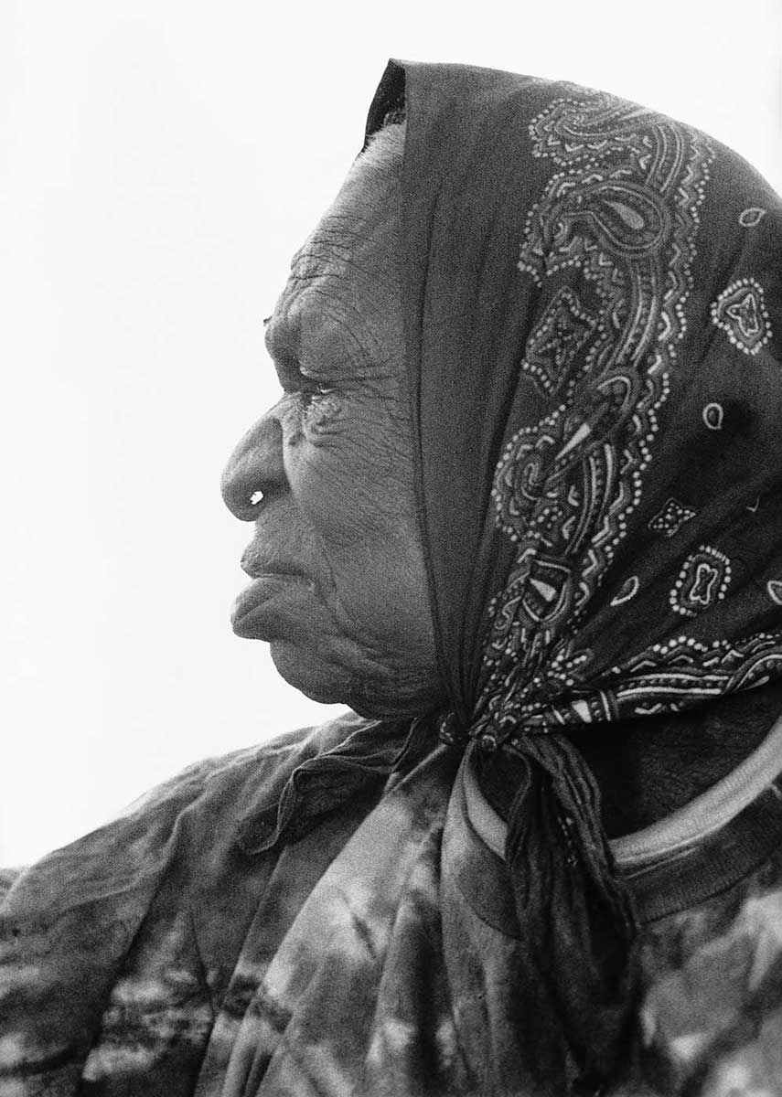 Portrait of an Aboriginal Australian woman. - click to view larger image