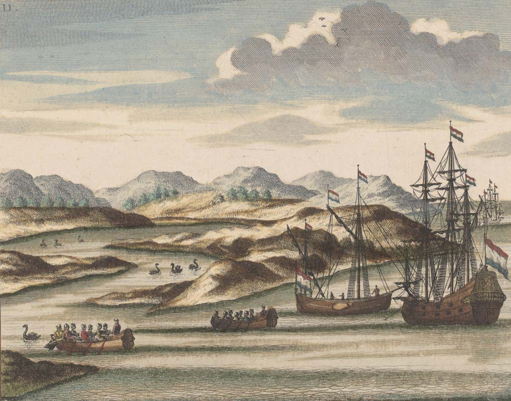 Willem de Vlamingh's ships - click to view larger image