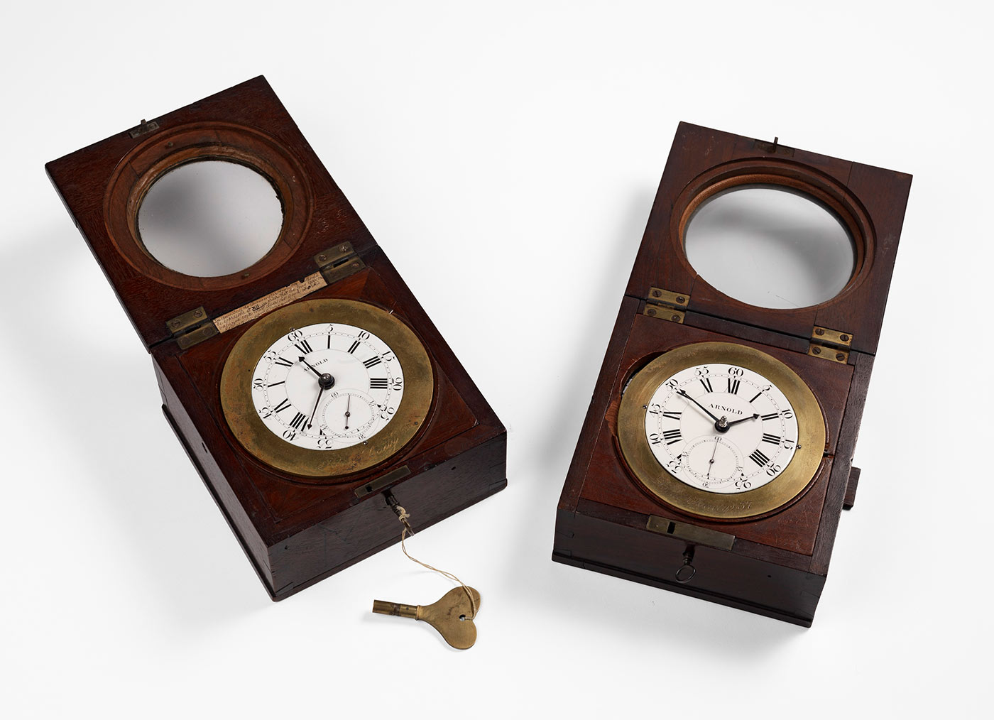 Chronometers used on Cook's second voyage to the Pacific made by John Arnold, London, 1771. The Royal Society. - click to view larger image