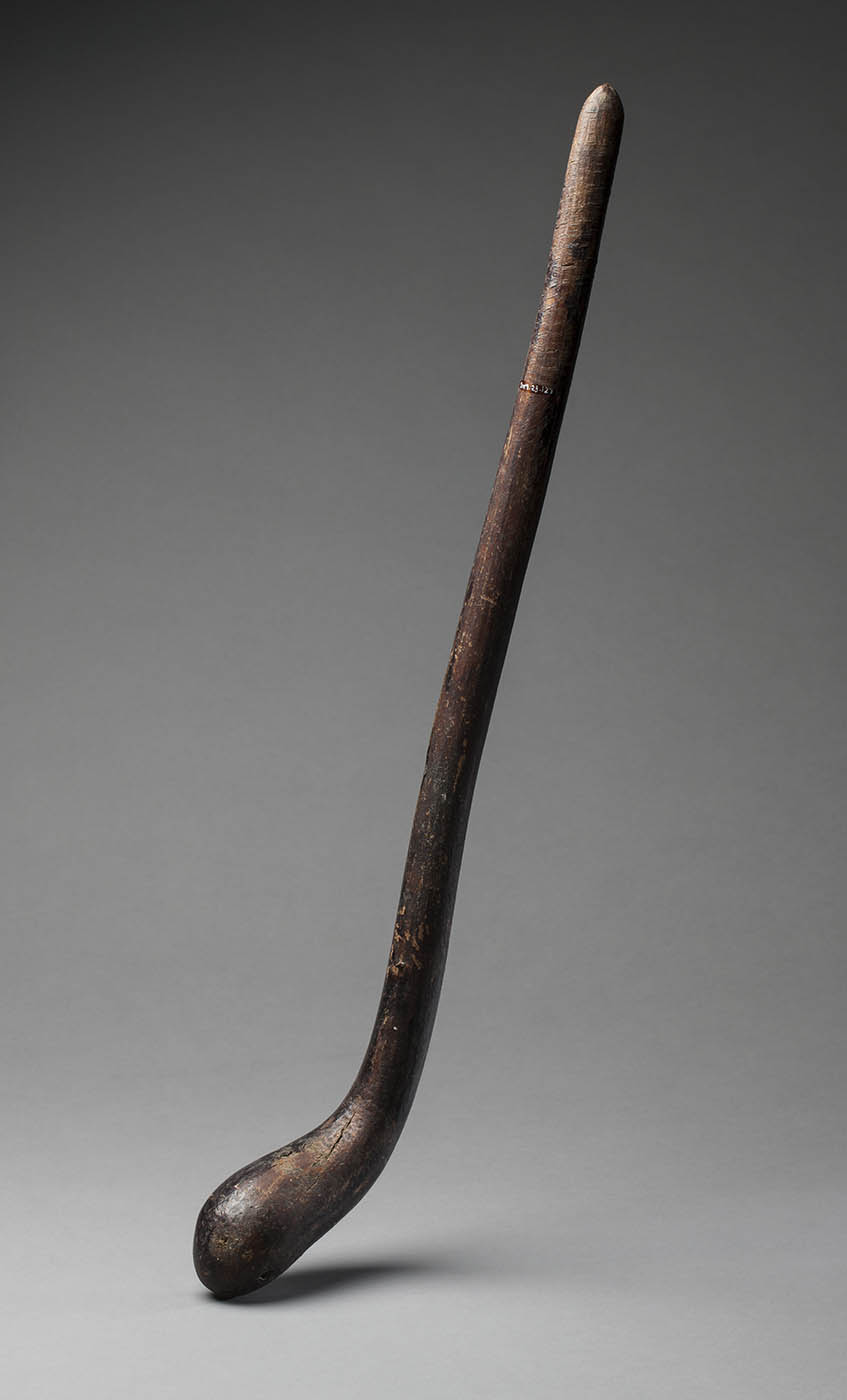 Wooden club with rounded end. - click to view larger image