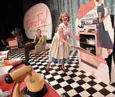 Dora Fay Davenport (Jenny Hope) and Clarence Cartwright (Nigel Sutton) as part of the Dora Fay Davenport Show.