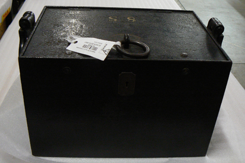 The bullion box after its removal from its protective case.