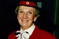 Cropped image showing Yvonne Kennedy in Red Cross uniform