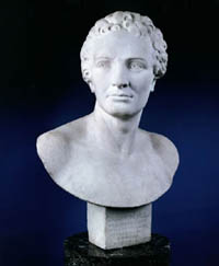 French marble portrait bust of Captain Jacques Cook