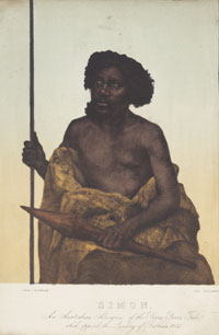 Painting of Simon, an Aboriginal man of the Yarra Yarra