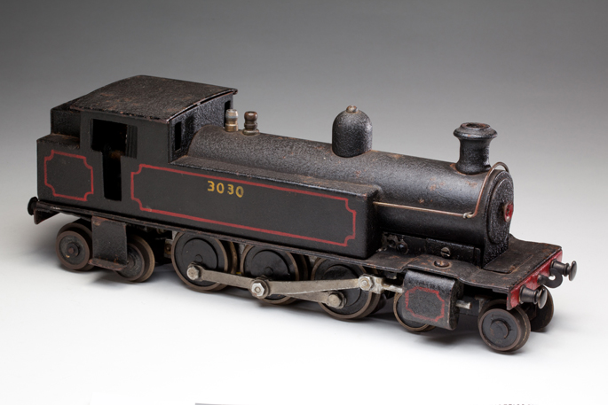 New South Wales Railways C30 class tank locomotive, made with pressed and cast metals by Ferris Bros Pty Ltd