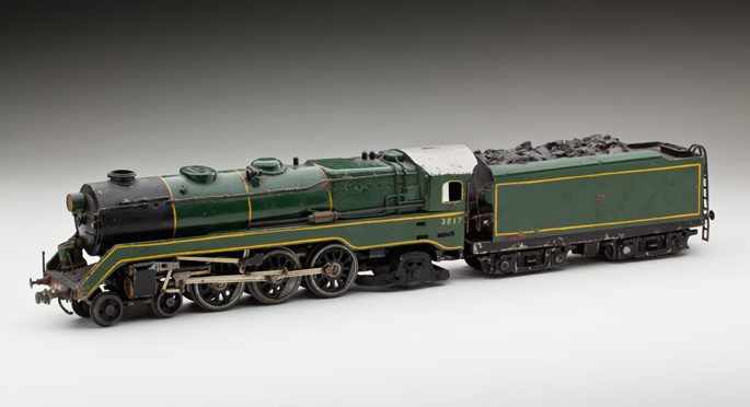 New South Wales Railways 38 class locomotive and tender, made from pressed and cast metals by Frederick Steward and associates