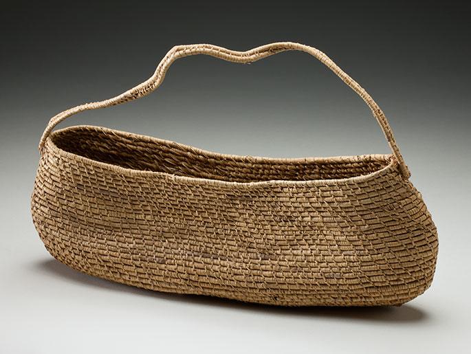 Photograph of small pandanus basket