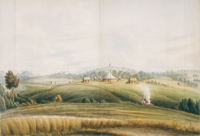 John Lewin, The Plains, Bathurst, ca 1815. State Library of New South Wales
