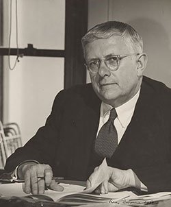 Black and white photograph of Do HV Evatt