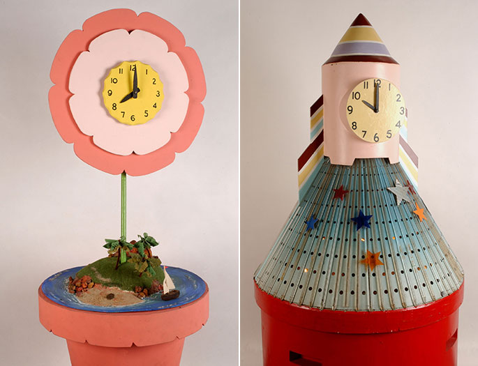 The Flower Clock and the Rocket Clock