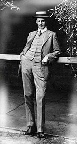 Black and white photo of Edwin Flack