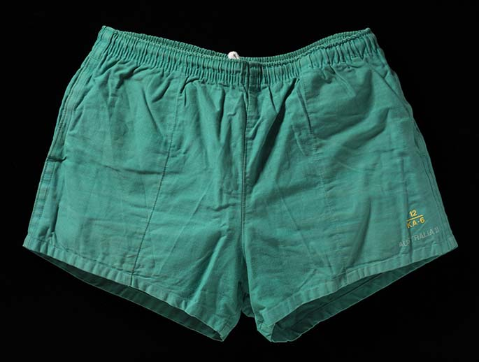 Pair of shorts from worn on Australia 2