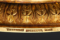 Gold cup with text engraving