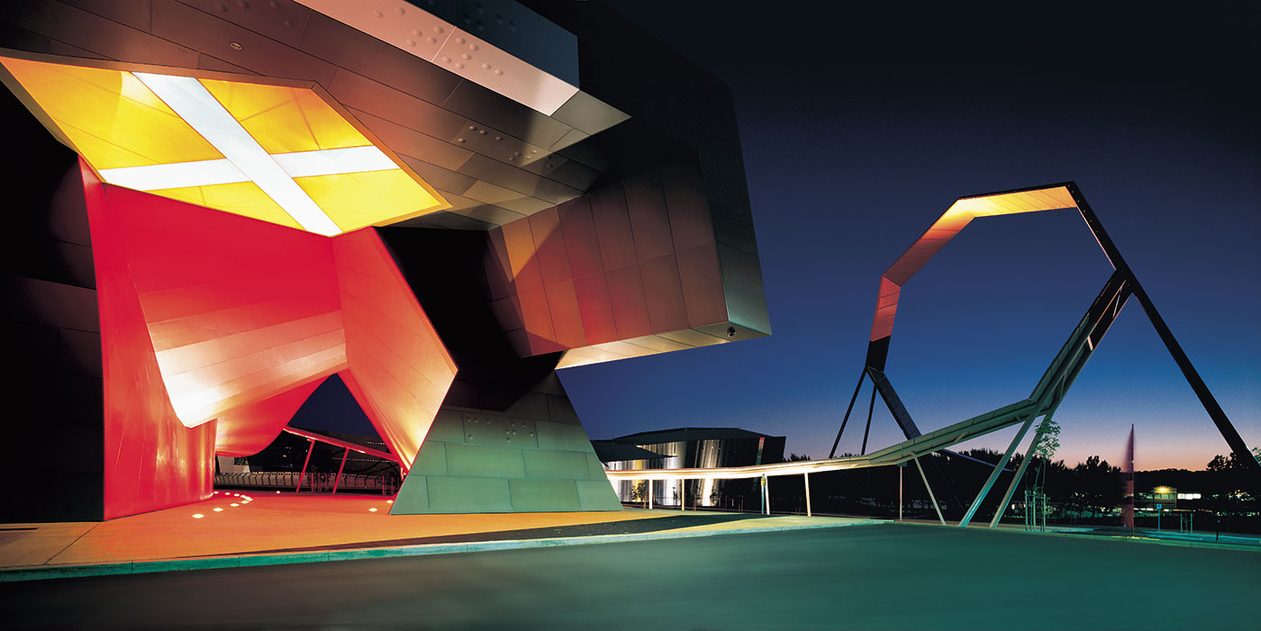 The National Museum of Australia's entrance and loop