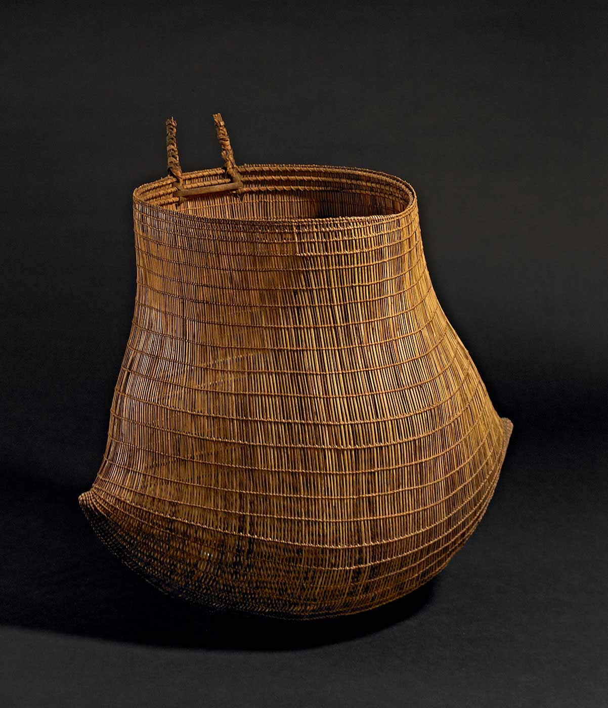 A woven basket. - click to view larger image