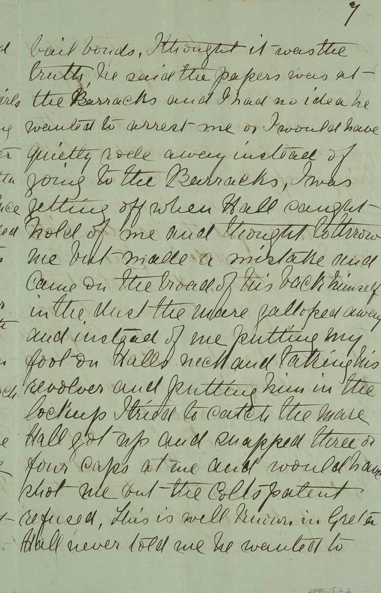 Page seven of Ned Kelly's Jerilderie letter. - click to view larger image