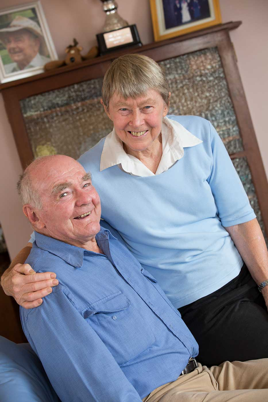 Neale and Velma Lavis, February 2014. - click to view larger image