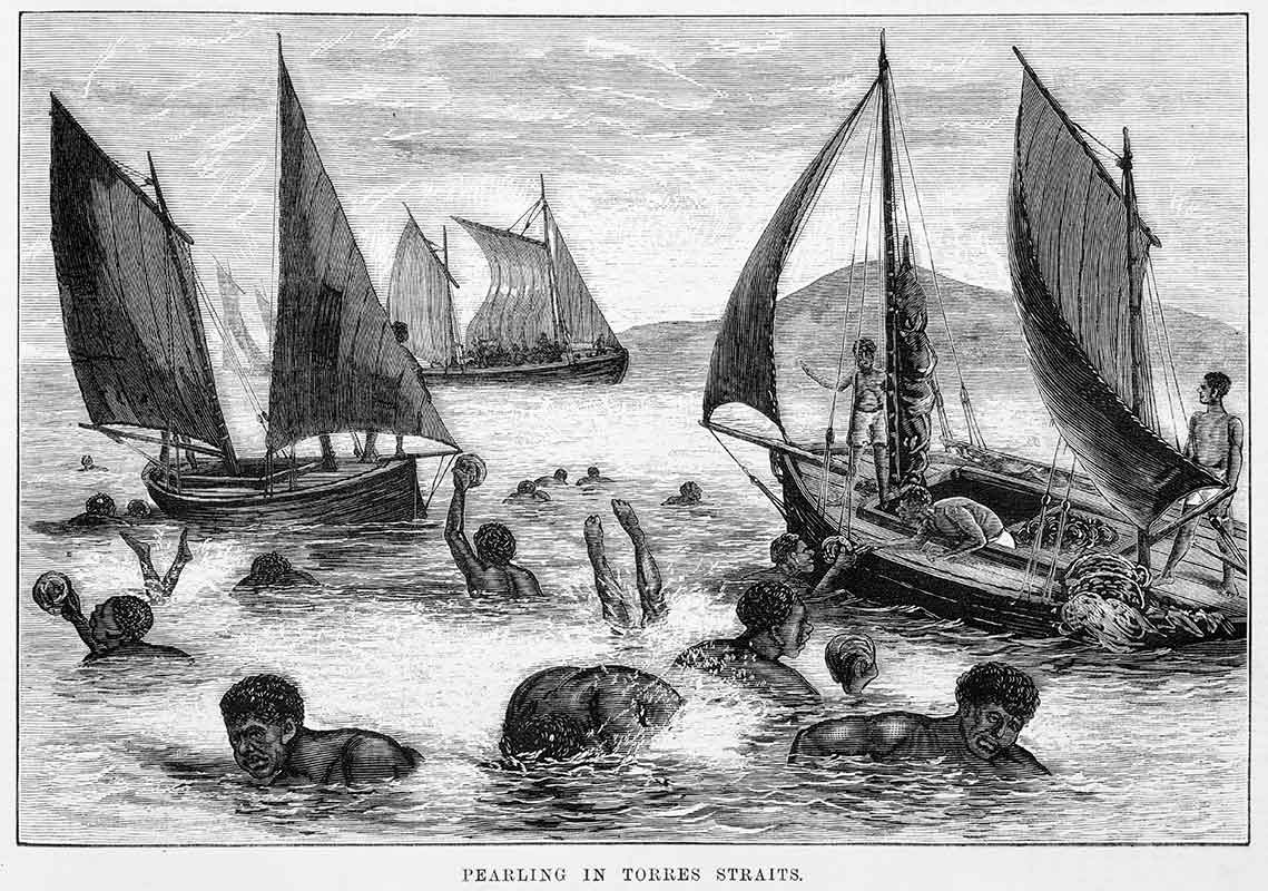 Pearling in Torres Straits, 1876