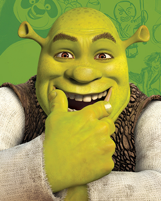 The animation character Shrek.