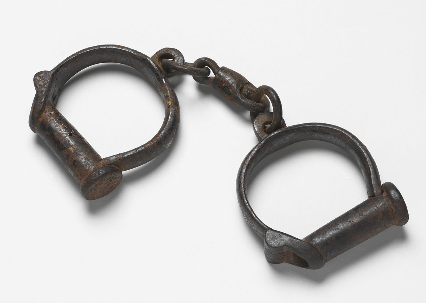 Metal hand cuffs. - click to view larger image