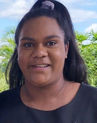 A portrait photo of Sha-lane Gibson, 2020 Indigenous Projects Officer at Cook Shire Council.