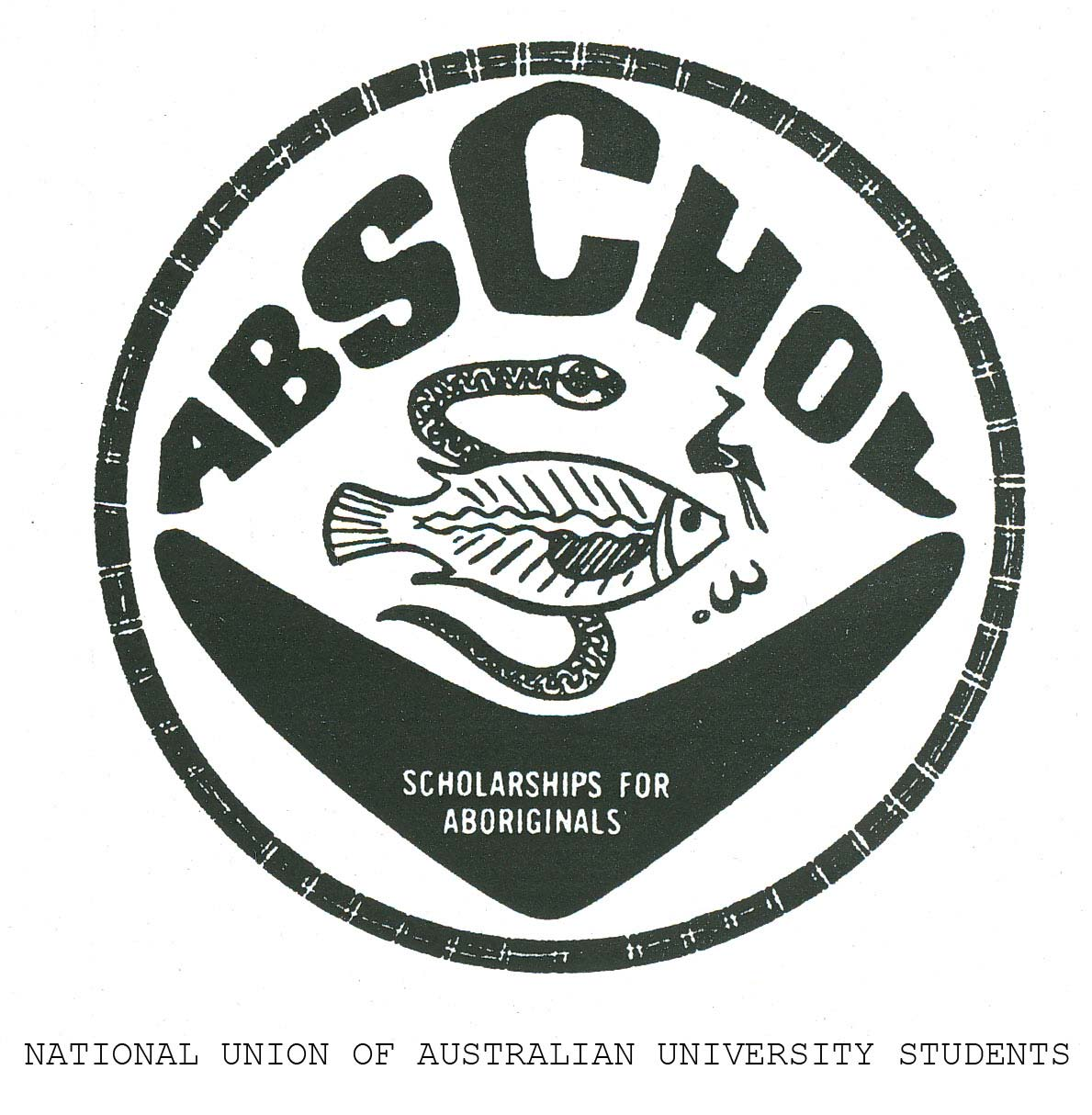 ABSCHOL logo with the text: SCHOLARSHIPS FOR ABORIGINALS. - click to view larger image