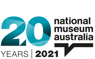 National Museum of Australia logo with text 20years 2021.