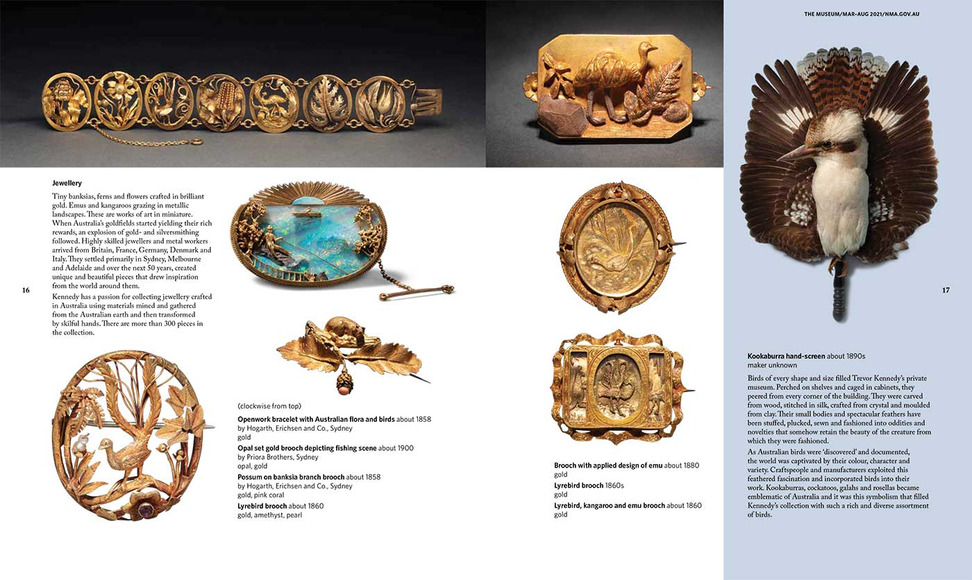 Spread from the National Museum of Australia's 'The Museum' magazine. - click to view larger image