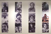 The portrait wall showcasing 24 photographs representing the many faces of the First Australians