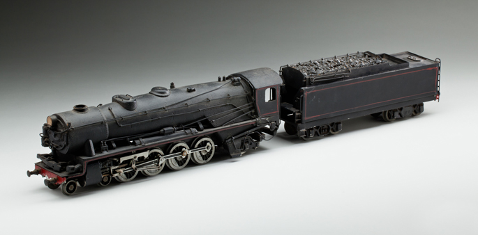 New South Wales Railways 58 class locomotive and tender, made from pressed and cast metals by Frederick Steward and associates