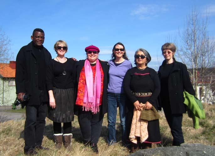 From left to right: Charles Tshimanga-Kashama, Christine Hansen, Barbara Paulson, Sunna Kuoljok, Juana Paillalef Carinao and Kate Sturge were guest speakers