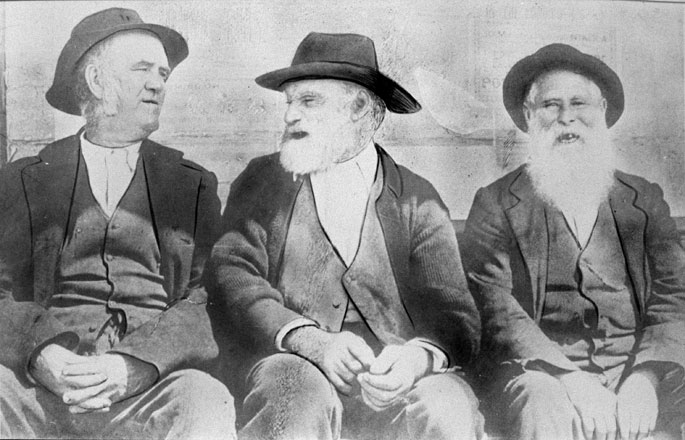 Former convicts Tom 'the dealer' (of skins and hides), Davey Evans and Paddy Paternoster