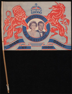 Souvenir flag of the royal visit to Australia