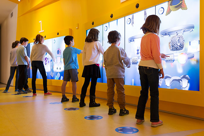 Young visitors enjoying the redeveloped Kspace. Photograph by Adam McGrath