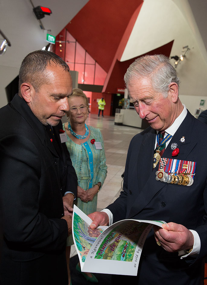 His Royal Highness, The Prince of Wales, Tyronne Bell and Caroline Forster.