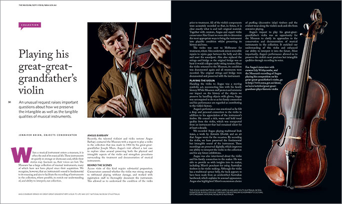Publication spread with images and text