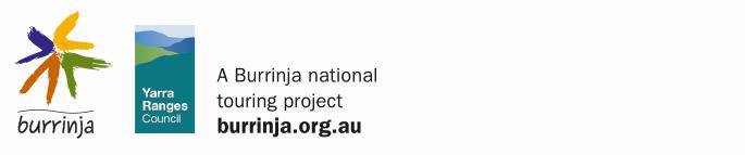 Logo for Burrinja and Yarra Ranges Council. A Burrinja national touring project burrinja.org.au