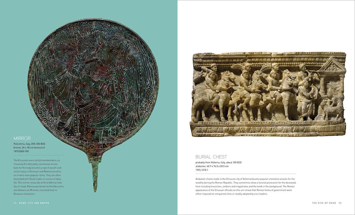 A screenshot of pages in the Rome: City and Empire catalogue that includes text and images. - click to view larger image