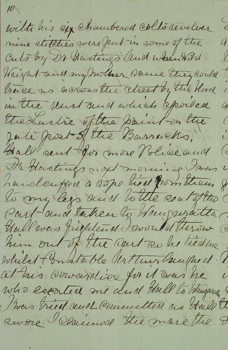 Page ten of Ned Kelly's Jerilderie letter. - click to view larger image