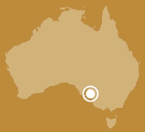 Map of Australia showing location of Adelaide, South Australia. - click to view larger image