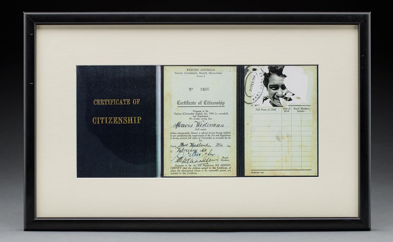 A certificate of citizenship - click to view larger image