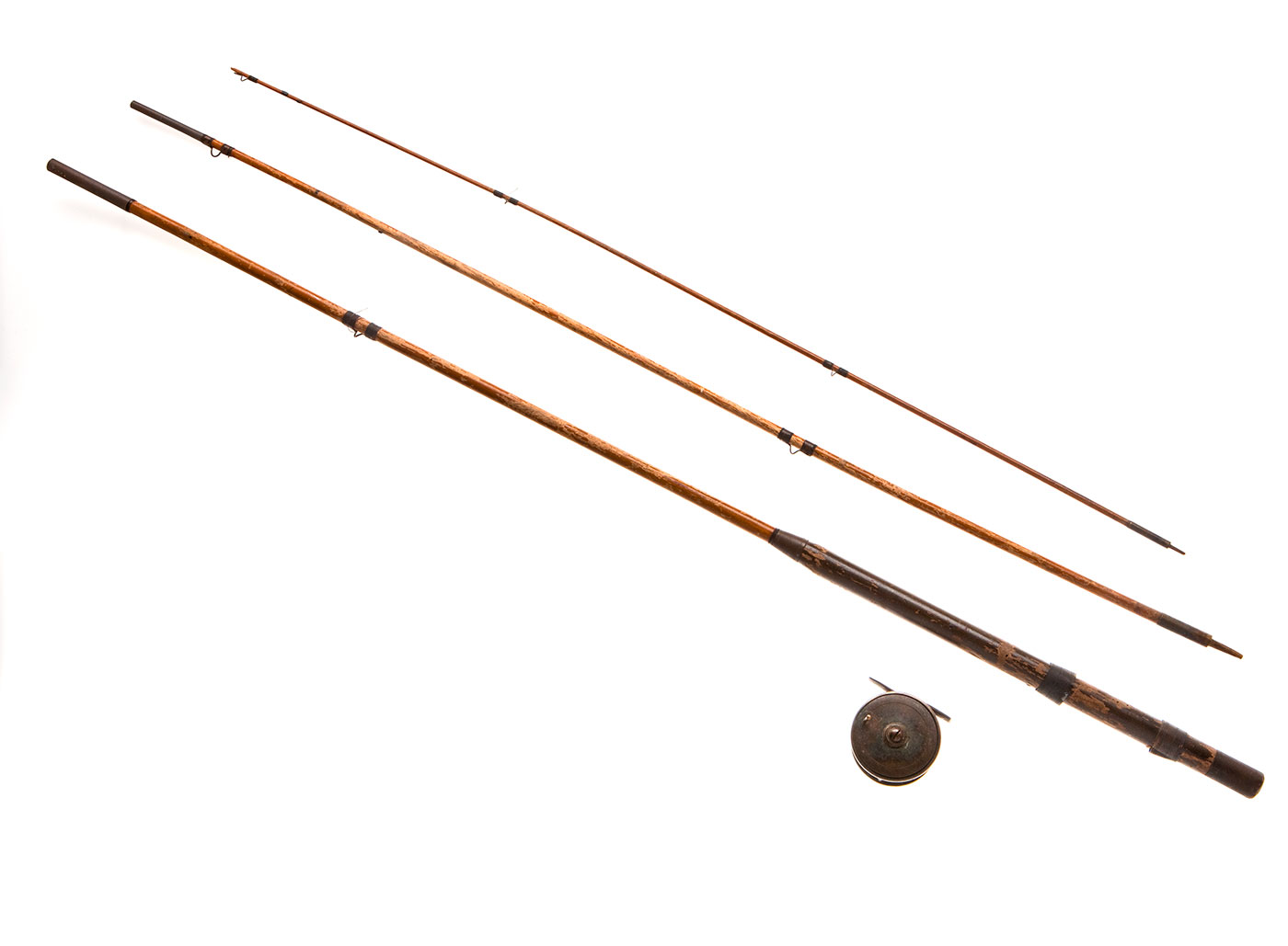 Fishing rods and a reel.