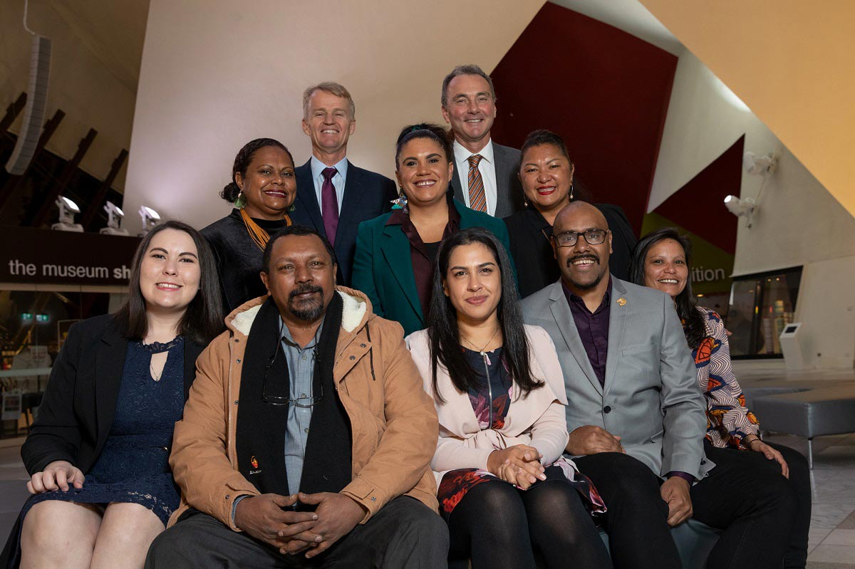 A group photo featuring the 2016 and 2019 fellows. - click to view larger image