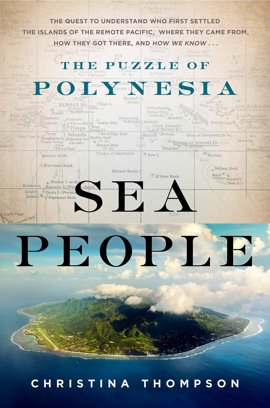 Book cover for 'Sea People — The Puzzle of Polynesia'.