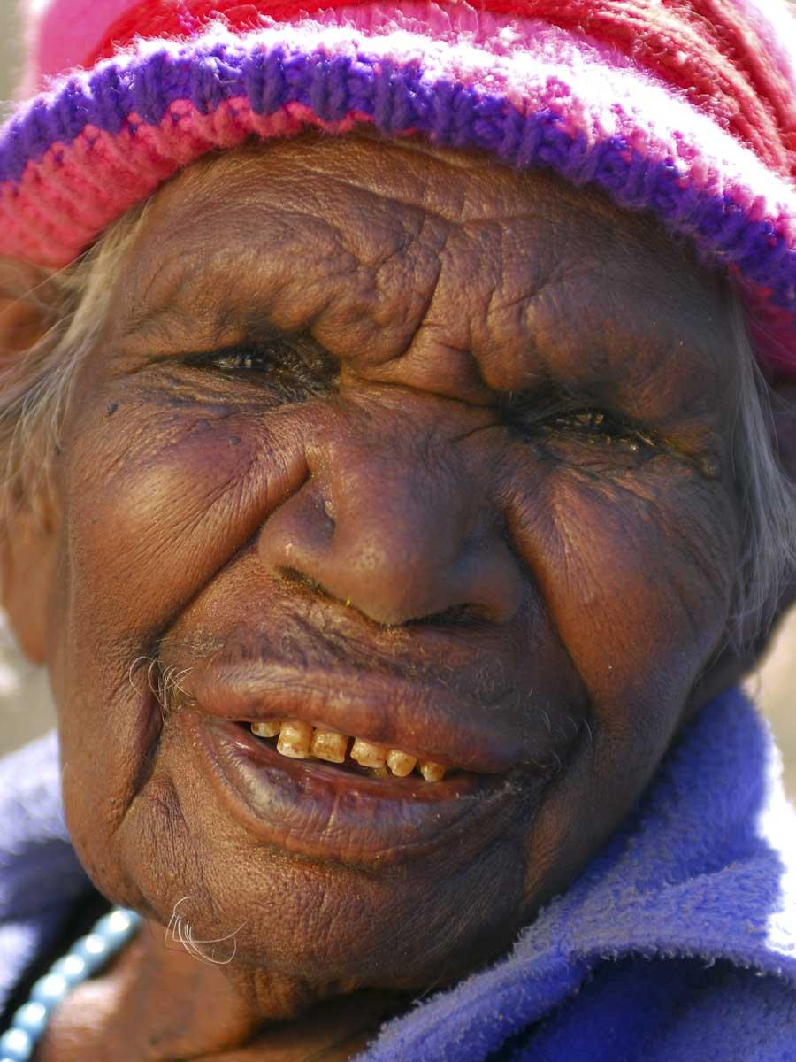 Portrait of Eubena (Yupinya) Nampitjin. - click to view larger image