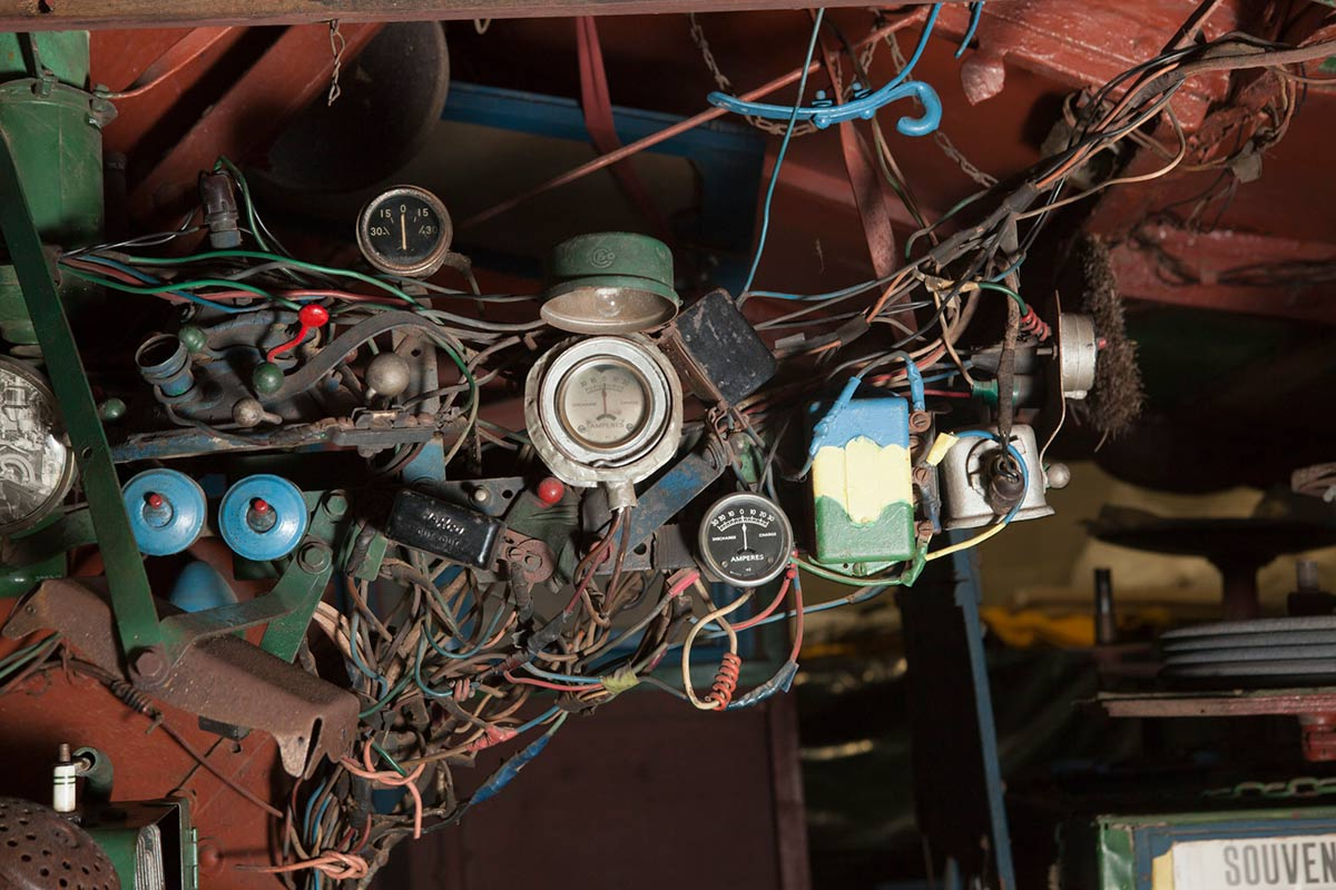 A colour photograph of numerous electrical wires. - click to view larger image