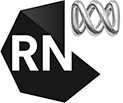 A logo block for Radio National and Canberra Writers Festival.