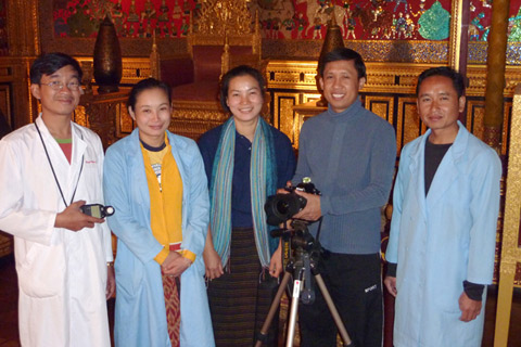 Staff from the Luang Prabang National Museum, Lao.