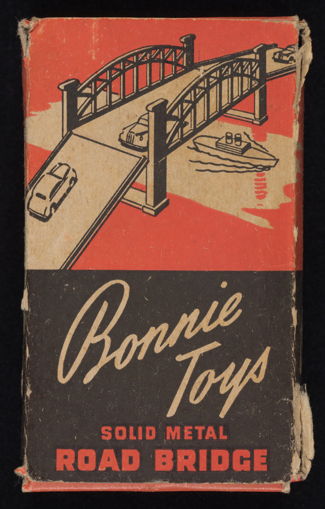Box cover of Bonnie Toys solid metal road bridge with side ramps